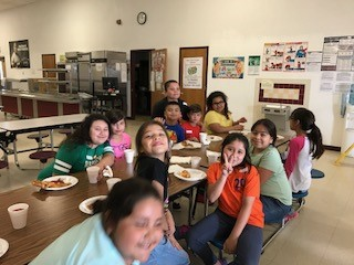 1st - 6th grade La Pryor Elementary students enjoying a treat for reaching their Accelerated Reader Goal. Congratulations to all!