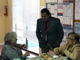 Mr. De La Fuente enjoyed talking to the elderly.
