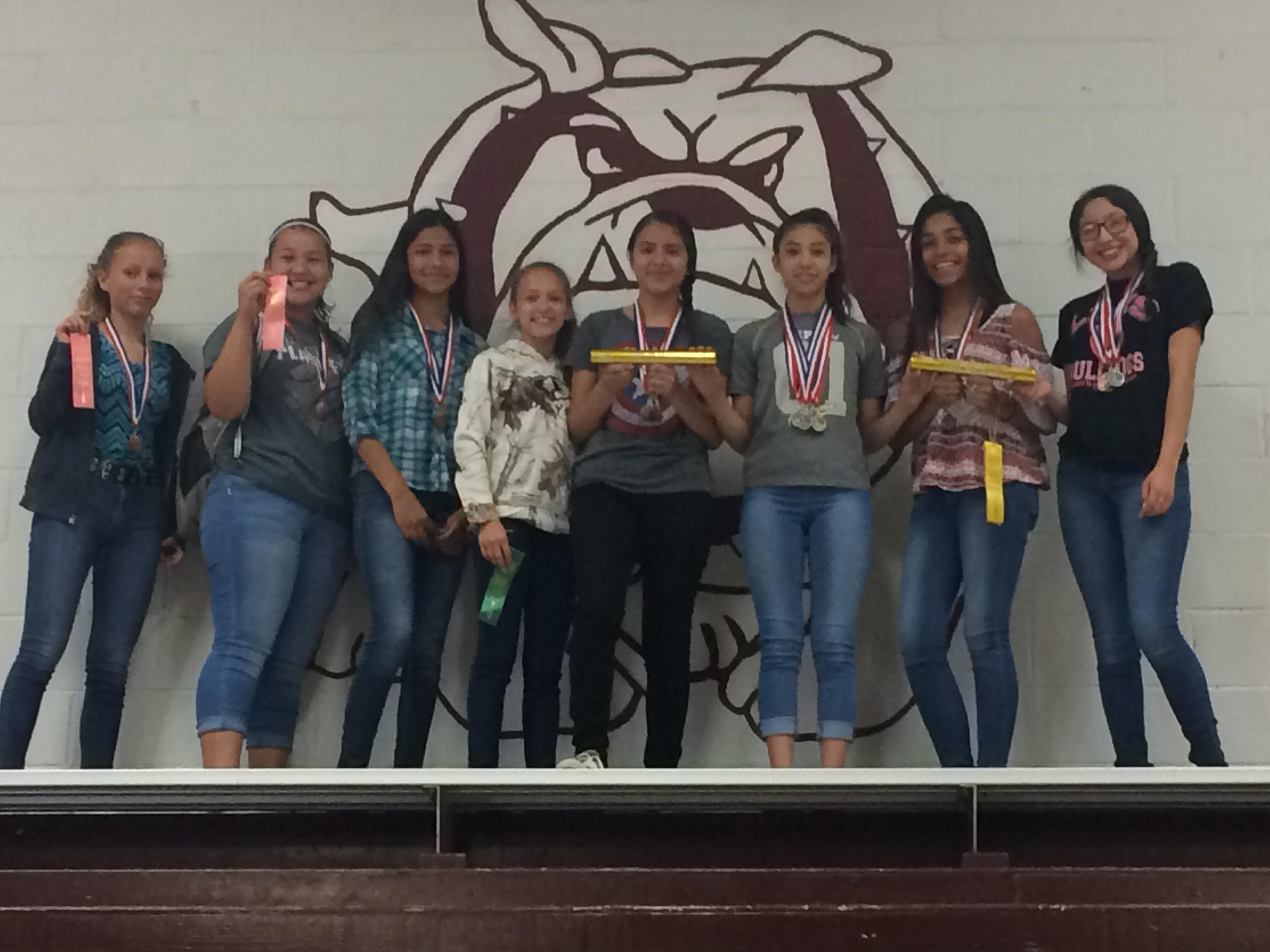 Junior High Girls Place 2nd at District Track Meet