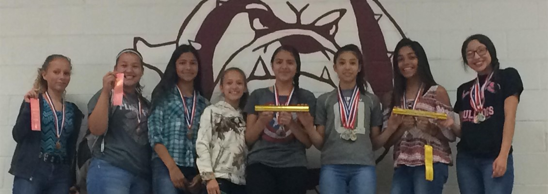 Junior High Girls Place 2nd at District Track Meet!