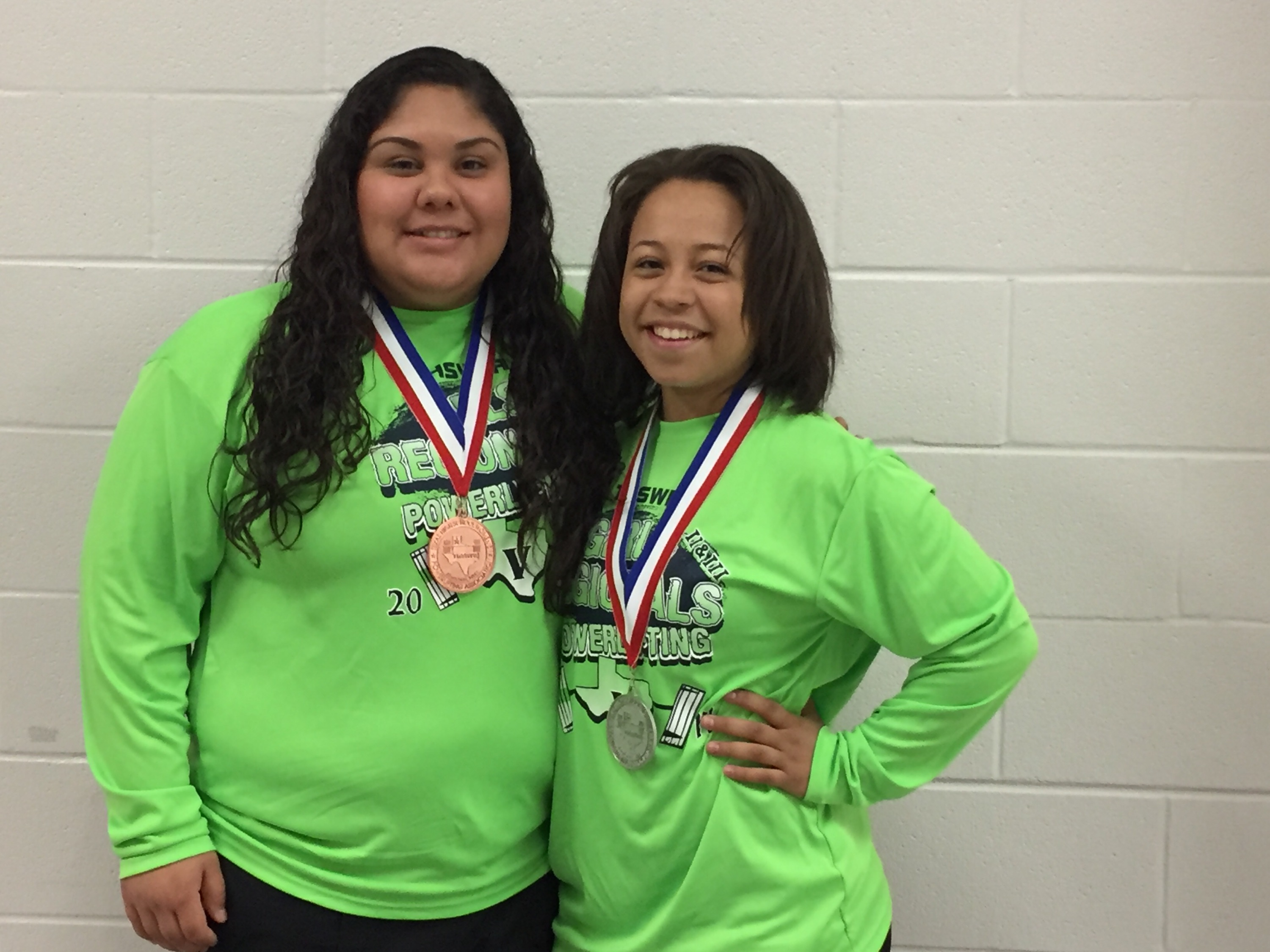 Jacklyn Perez & Kiersten Paul at Regional Powerlifting Meet.
