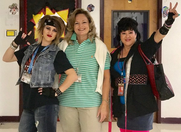 Elementary Teachers rocking the 80's!! Go Bulldogs!!