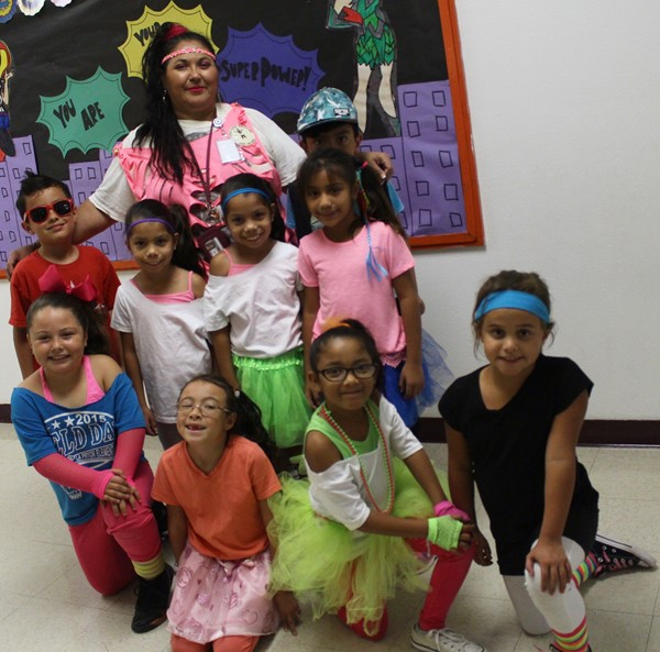2nd grade rocking the 80's