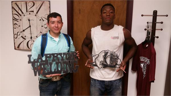 Products made by students at La Pryor HS using the CNC Plasma Table.