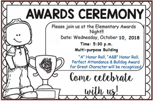 elementary awards ceremony la pryor independent school district
