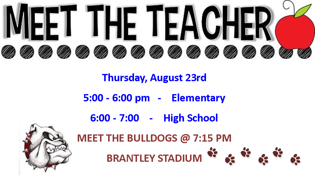 MEET THE TEACHER - MEET THE BULLDOGS
