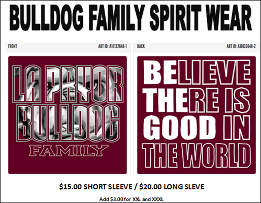 BULLDOG FAMILY SPIRIT WEAR